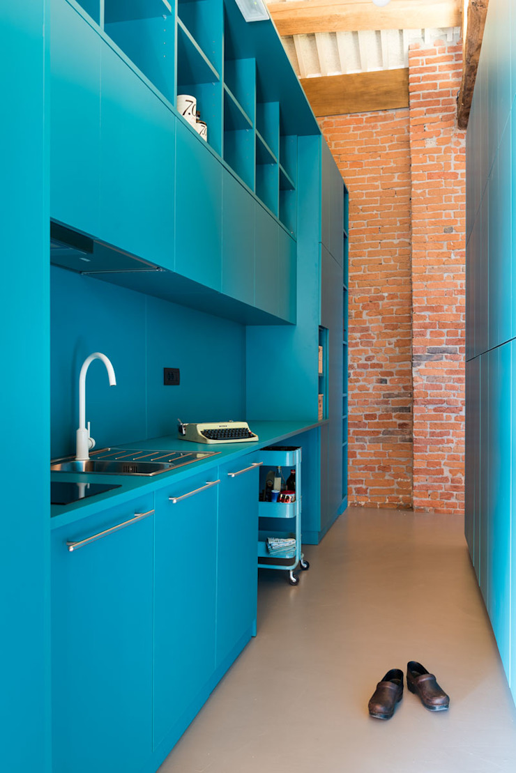 UNO8A Built-in kitchens MDF Turquoise
