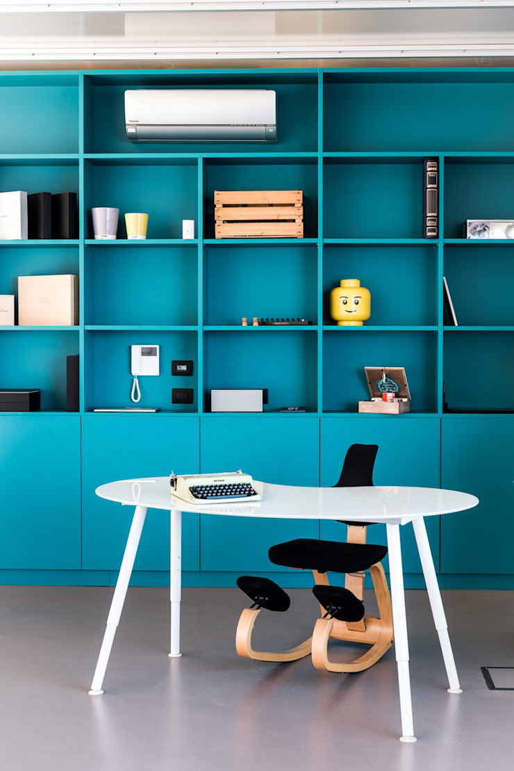 UNO8A Modern study/office MDF Turquoise