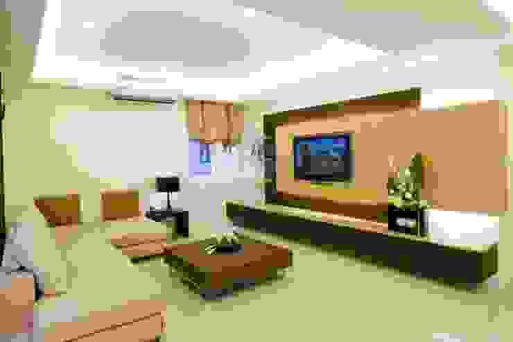 客廳電視牆 根據 Hi+Design/Interior.Architecture. 寰邑空間設計 隨意取材風