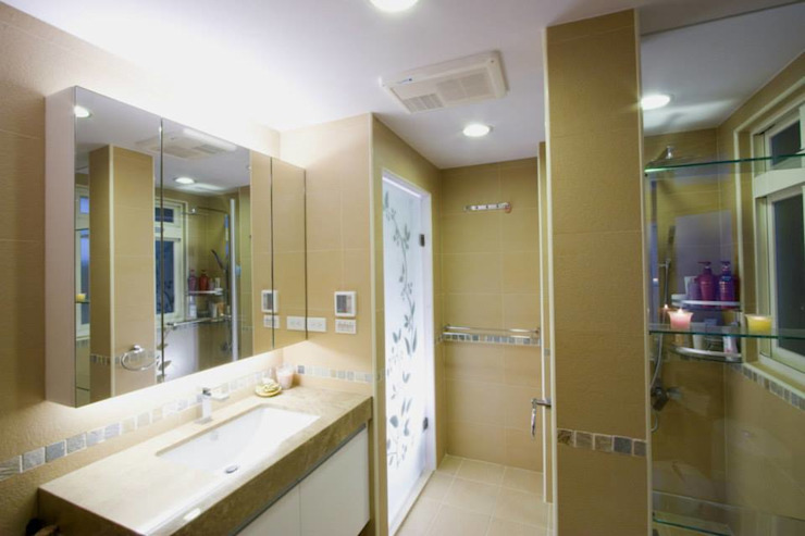 主浴室-2 根據 Hi+Design/Interior.Architecture. 寰邑空間設計 隨意取材風