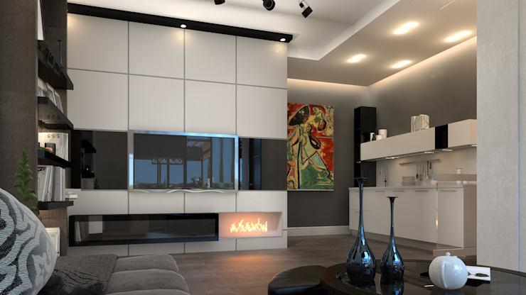 living room: modern  by AL-TRASS CREATIONS DESIGN, Modern