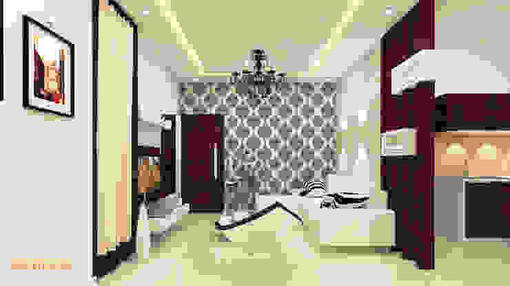 SHRI SAI SRUSHTI INTERIORS Kredenza Interior Studios Living room