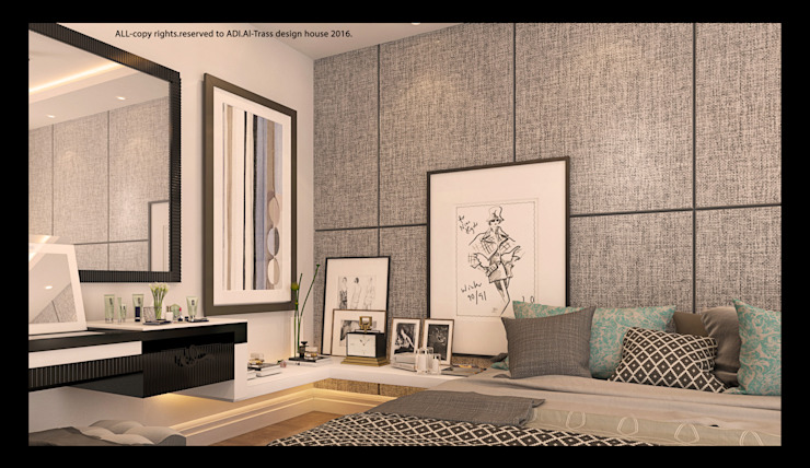 bedroom: modern  by AL-TRASS CREATIONS DESIGN, Modern