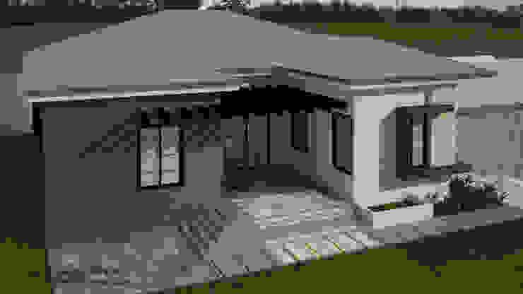 CASA EN EL TIGRITO, EDO ANZOATEGUI ESCENA VIRTUAL 3D ARQUITECTURA Casas unifamiliares