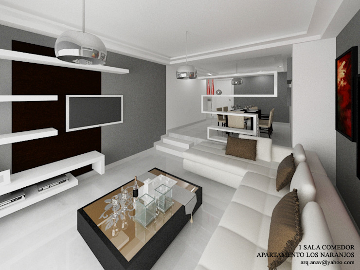 DISEÑO INTERIOR de ESCENA VIRTUAL 3D ARQUITECTURA Minimalista