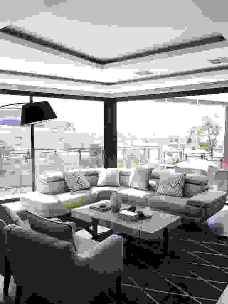 Izinga Park, Umhlanga Modern living room by Urban Create Design Interiors Modern