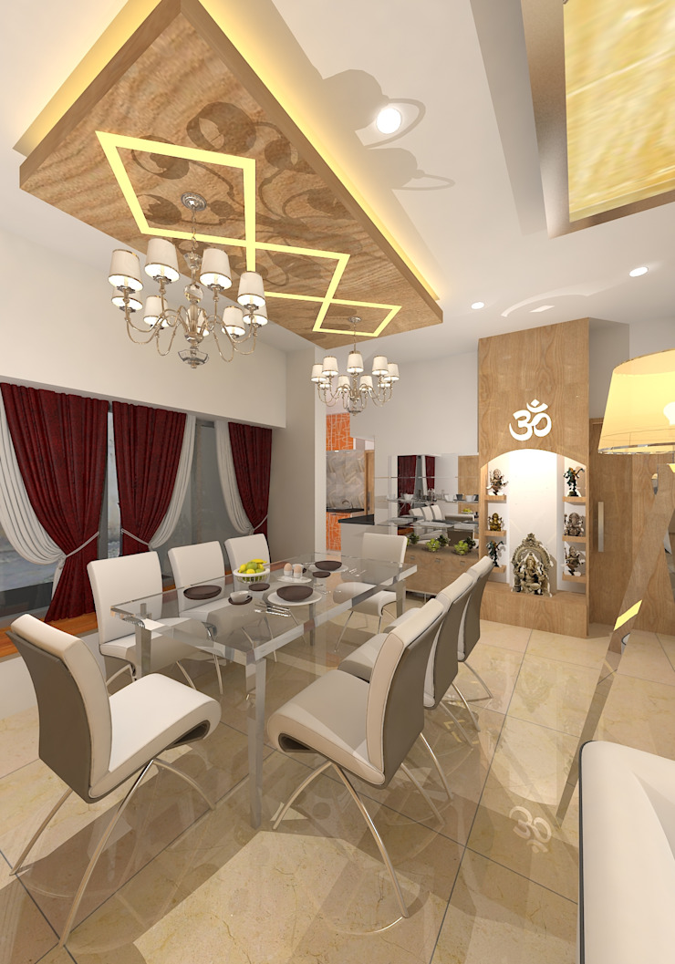 Prashant Residence Asian style dining room by Gurooji Designs Asian