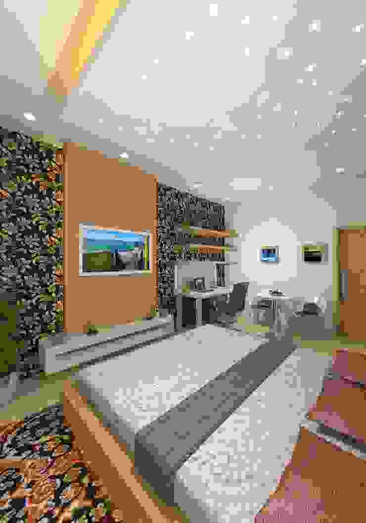 Prashant Residence Asian style bedroom by Gurooji Designs Asian
