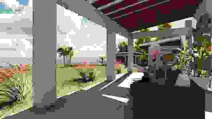Terraza Balcones y terrazas mediterráneos de Atelier Arquitectura Mediterráneo