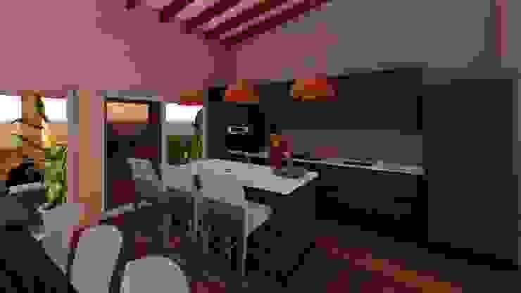 Cocina de Atelier Arquitectura Mediterráneo