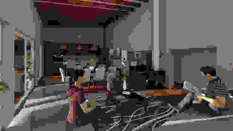 Living-comedor Livings de estilo mediterráneo de Atelier Arquitectura Mediterráneo
