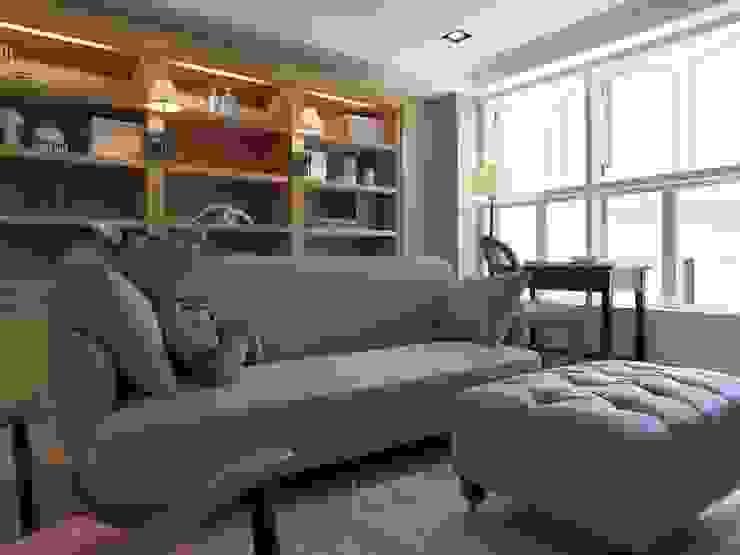 彰化T宅:  客廳 by Ho.space design 和薪室內裝修設計有限公司