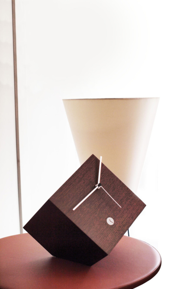 Tothora Box 20 - Walnut: modern  by Just For Clocks,Modern Wood Wood effect