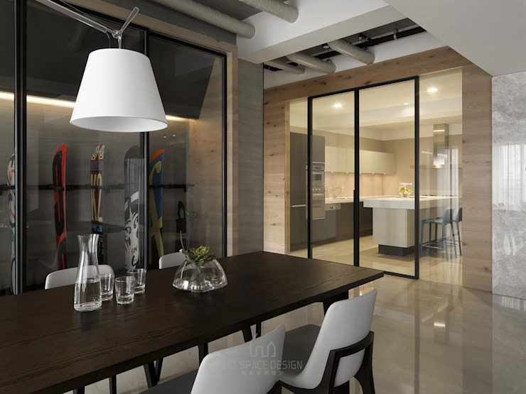 Comedores de estilo minimalista de Ho.space design 和薪室內裝修設計有限公司 Minimalista