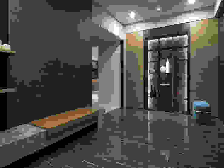 國泰森林苑T宅 現代風玄關、走廊與階梯 根據 Ho.space design 和薪室內裝修設計有限公司 現代風