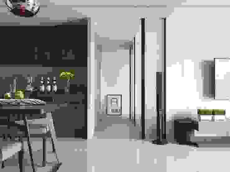 景川匯L宅 现代客厅設計點子、靈感 & 圖片 根據 Ho.space design 和薪室內裝修設計有限公司 現代風
