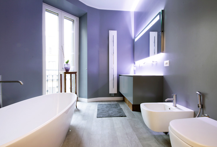 Un appartamento a Milano Barbara Patrizio DesignLab Bagno minimalista