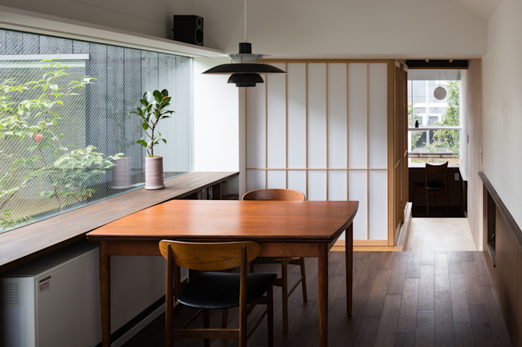 Dining room by acaa, Modern Wood Wood effect