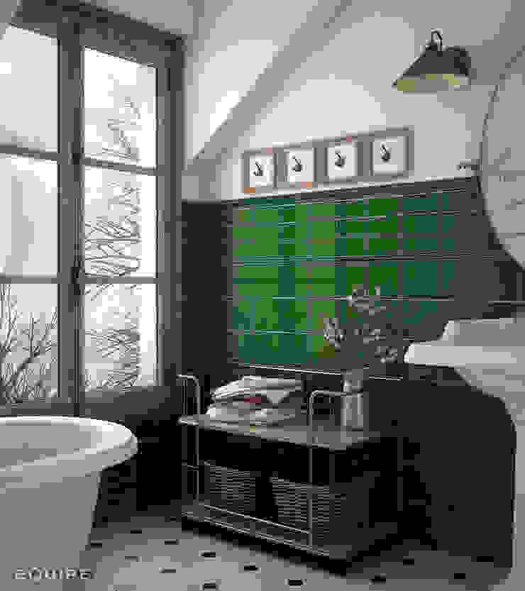 Evolution 7,5x15 / 15x15, Torello 2x15, London 5x15 Victorian Green. Baños de estilo clásico de Equipe Ceramicas Clásico Cerámico