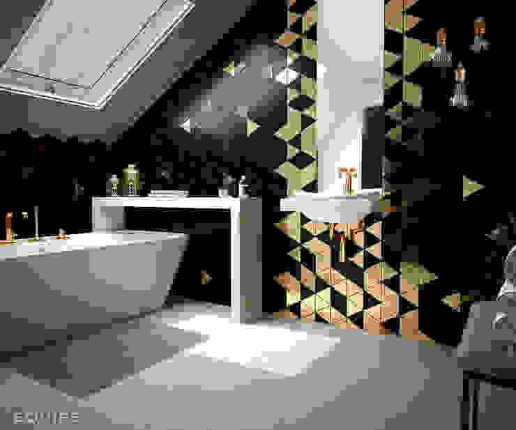 Scale Triangolo Baños de estilo moderno de Equipe Ceramicas Moderno Cerámico
