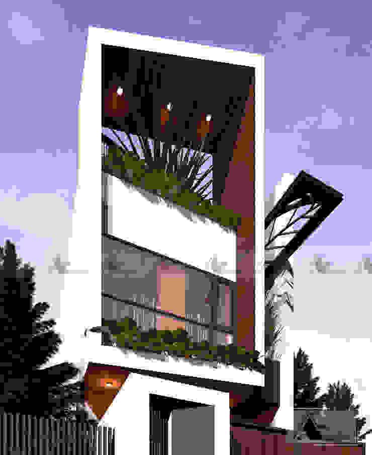 H House: hiện đại  by AE STUDIO DESIGN, Hiện đại