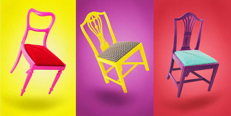 Klash Chairs: eclectic  by Standrin, Eclectic Solid Wood Multicolored