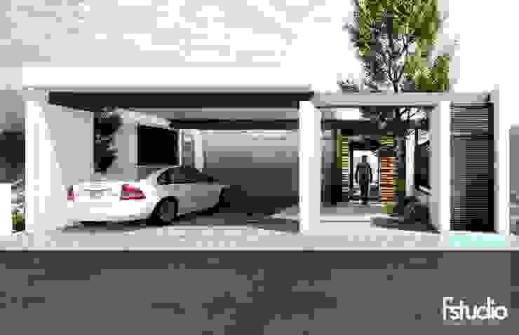 CASA BOSQUENCINOS: Casas unifamiliares de estilo  por Fstudio Arquitectura
