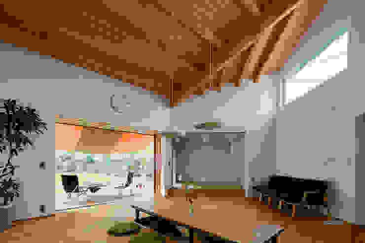 1F LDK 和風デザインの リビング の 内海聡建築設計事務所 和風