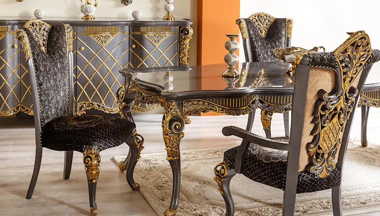 LUXURY LINE FURNITURE ComedorMesas Madera Negro