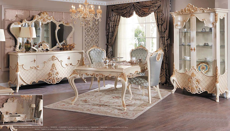 LUXURY LINE FURNITURE ComedorMesas Madera Beige