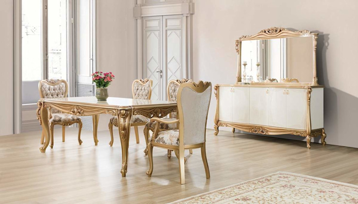 LUXURY LINE FURNITURE ComedorMesas Madera Blanco