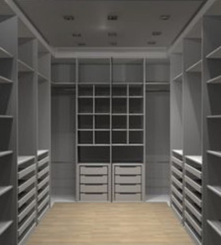 Walk In Cupboard Modern style bedroom by Nozipho Construction Modern