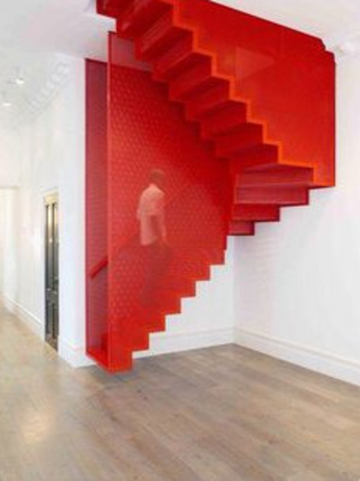 Staircase Modern Corridor, Hallway and Staircase by Nozipho Construction Modern