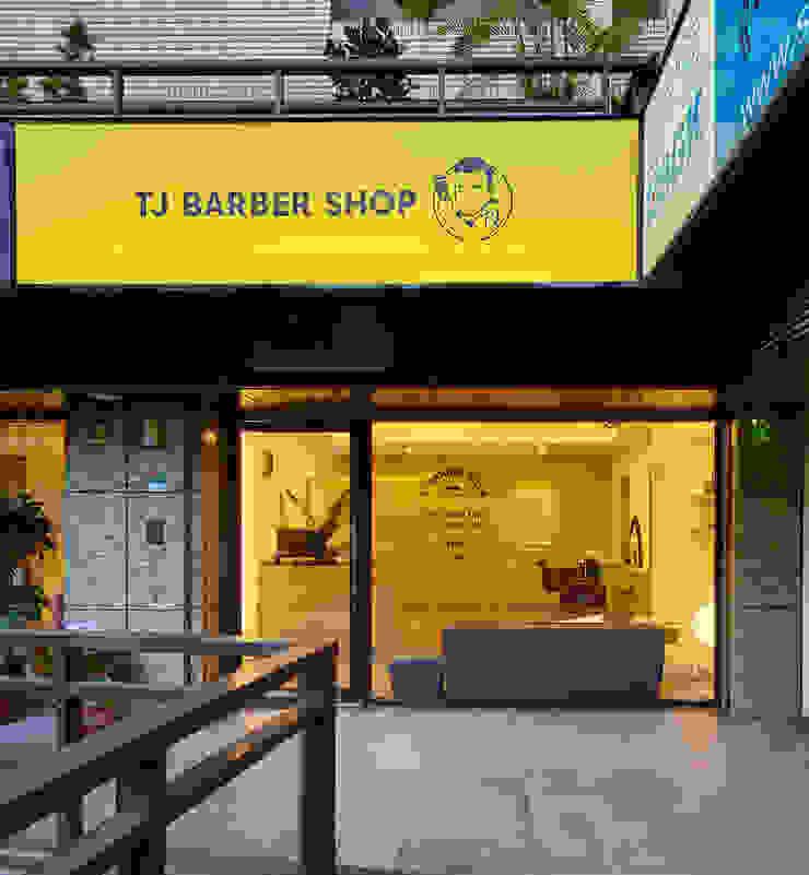 TJ BARBER SHOP 根據 潤澤明亮設計事務所 北歐風 木頭 Wood effect