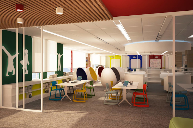 American Community School Common Learning Space by dal design office Modern