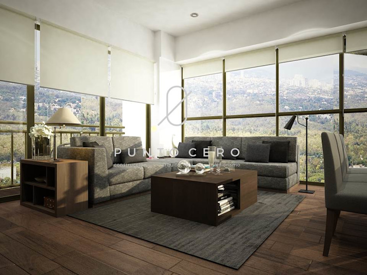 Living room by Punto Cero , Modern