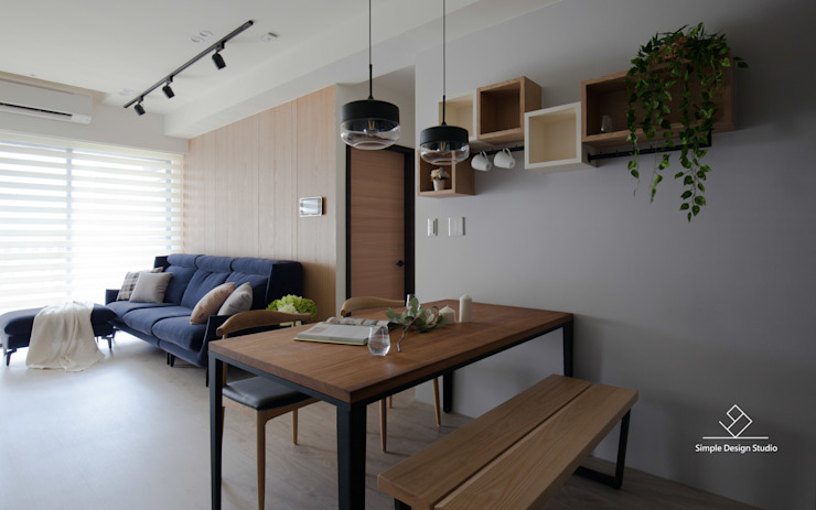 餐廳 Minimalist dining room by 極簡室內設計 Simple Design Studio Minimalist