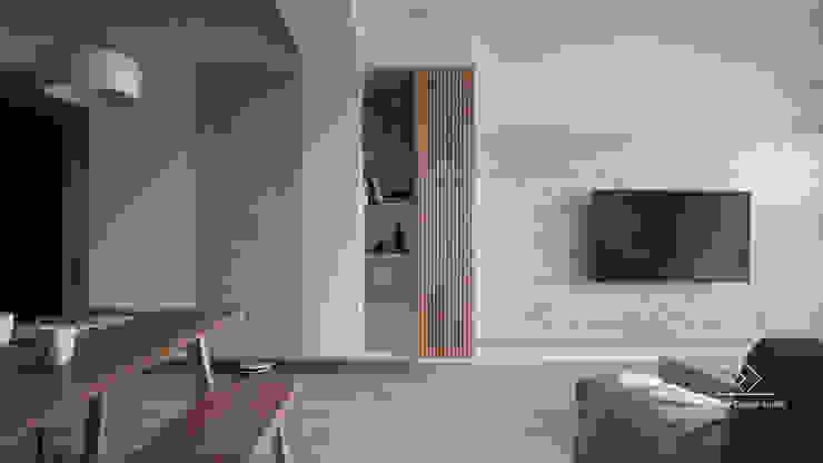 Soggiorno in stile asiatico di 極簡室內設計 Simple Design Studio Asiatico
