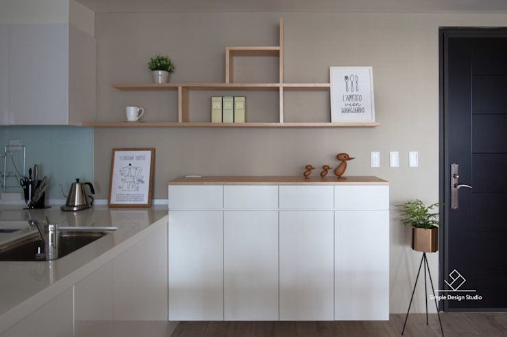 玄關 亞洲風玄關、階梯與走廊 根據 極簡室內設計 Simple Design Studio 日式風、東方風