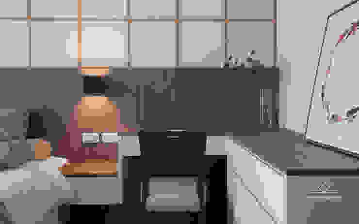 Camera da letto in stile asiatico di 極簡室內設計 Simple Design Studio Asiatico