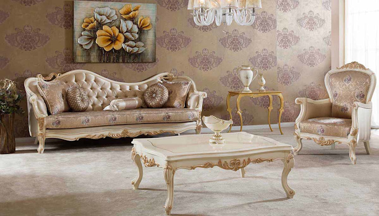 Living room تنفيذ LUXURY FURNITURE