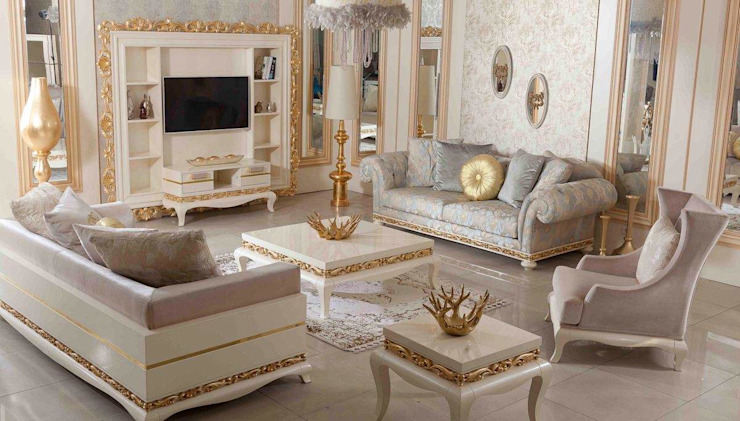 LUXURY LINE FURNITURE Living roomSofas & armchairs Wood White