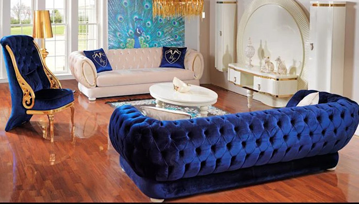 LUXURY LINE FURNITURE Salas/RecibidoresSofás y sillones Madera Azul