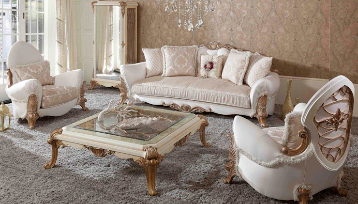 LUXURY LINE FURNITURE Living roomSofas & armchairs Wood Beige