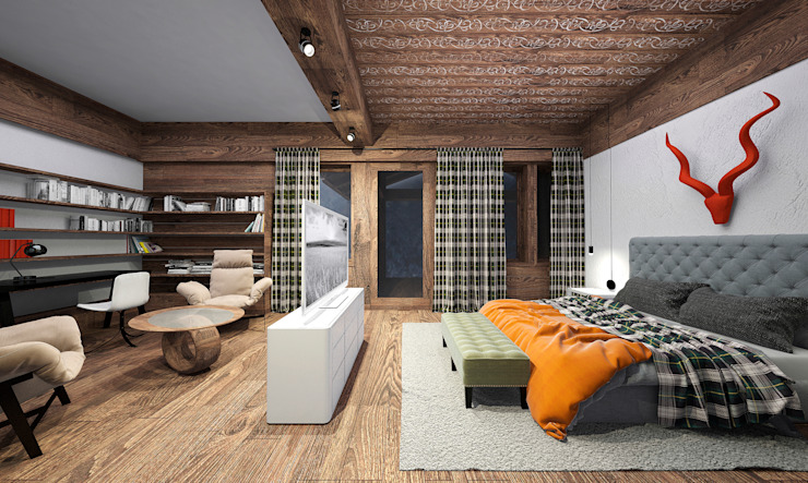 Country style bedroom by ARCHDUET&DA Country