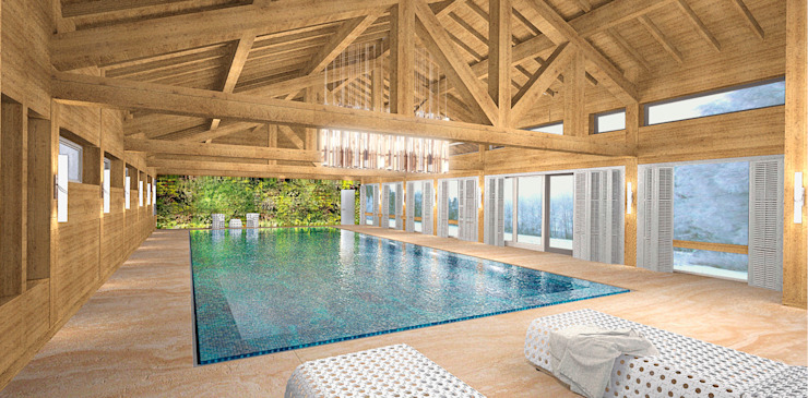 Country style pool by ARCHDUET&DA Country