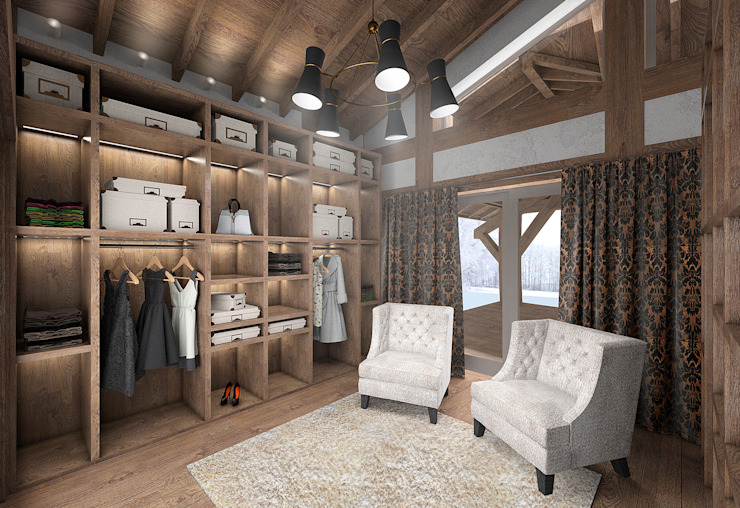 Country style dressing room by ARCHDUET&DA Country