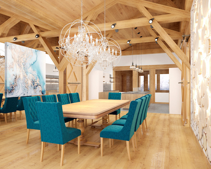 Country style dining room by ARCHDUET&DA Country
