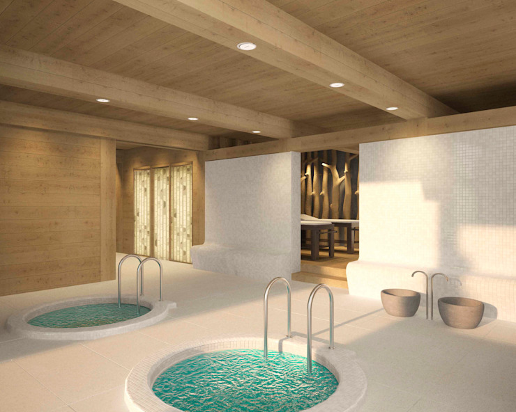 Country style spa by ARCHDUET&DA Country