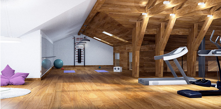 Country style gym by ARCHDUET&DA Country